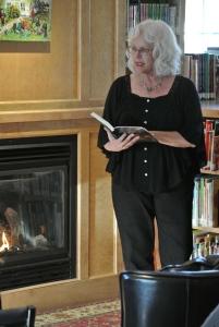 Peggy Hogan reads a scene from Milo's Burden