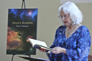 Peggy Hogan, Reading at the Confederation Centre Public Library, 18 June 2016