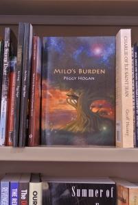 Milo's Burden on display at Indigo, Charlottetown, PEI, May 2017